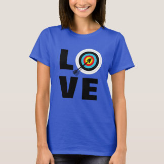 Love Archery Sport Target Board Cool Graphic T-Shirt
