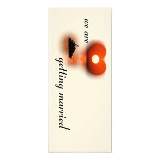 love are in the air sundown 10 cm x 24 cm invitation card