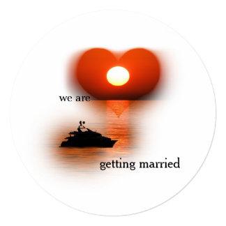 love are in the air sundown 13 cm x 13 cm square invitation card