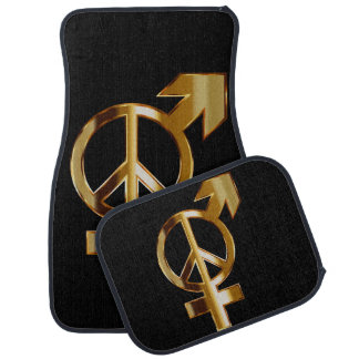 Love Arrow and Peace Sign Set of 4 Car Mats Car Mat