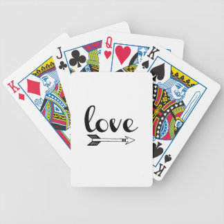 Love Arrow Design Bicycle Playing Cards