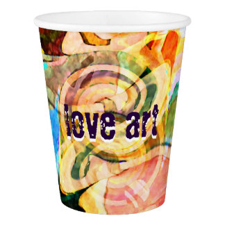 """""""love art"""" abstract painted Custom Paper Cup, 9 oz"""