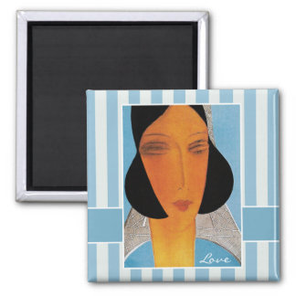 Love. Art Deco Design Gift Square Magnet