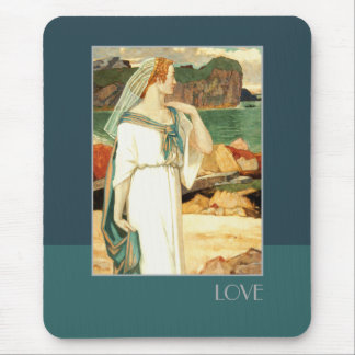 Love. Art Deco Valentine's Day Gift Mousepads