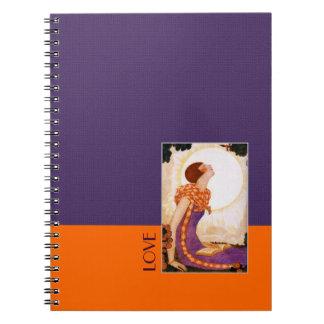 Love. Art Deco Valentine's Day Gift Notebook