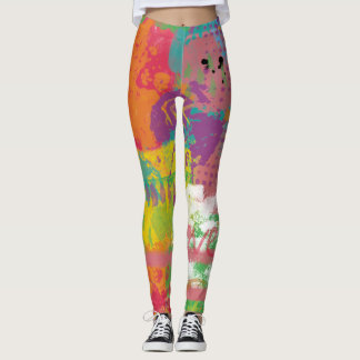 Love Art Digital Painting Abstract Paint Crazy Leggings