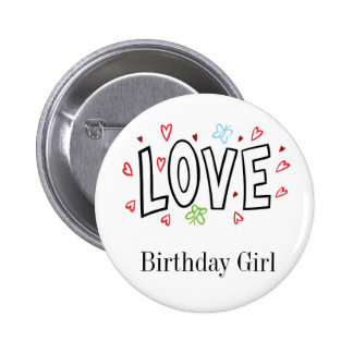 Love Art With Hearts Button