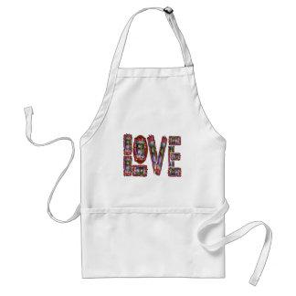 LOVE Artistic Script Standard Apron