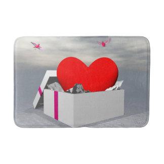 Love as a gift - 3D render Bath Mat