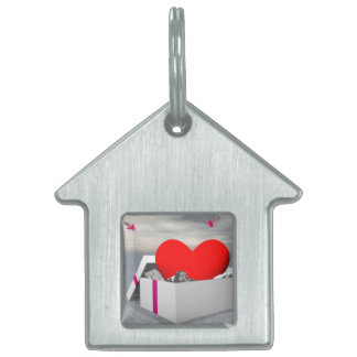 Love as a gift - 3D render Pet Name Tag