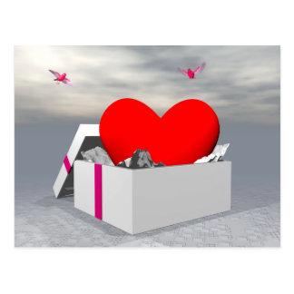 Love as a gift - 3D render Postcard