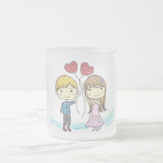 Love at 1st Sight Frosted Glass Mug