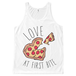 Love at First Bite Pizza All-Over Print Tank Top