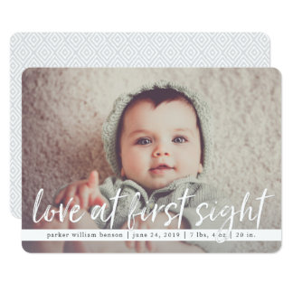 Love at First Sight Overlay Birth Announcement