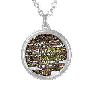love attributes silver plated necklace