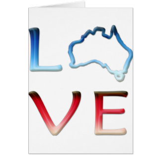 Love Australia Greeting Card