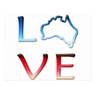 Love Australia Postcard