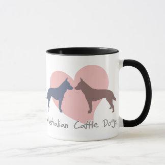 Love Australian Cattle Dogs Mug