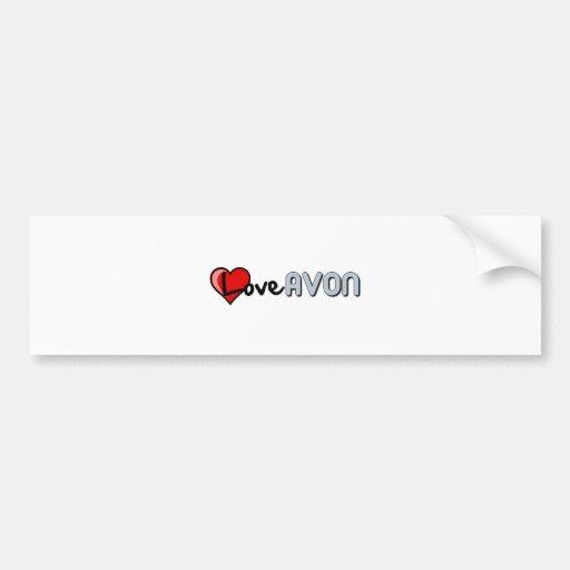 Love AVON Bumper Sticker