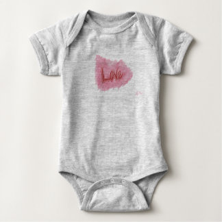 Love baby single garment with blotch baby bodysuit