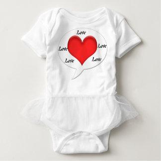 Love, Baby Tutu Bodysuit
