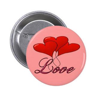 Love Balloon Float Round Button