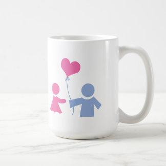 love balloon heart shape basic white mug
