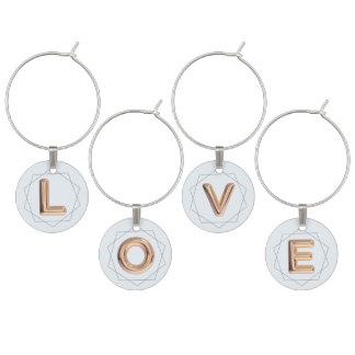 Love Balloon Wine Charms