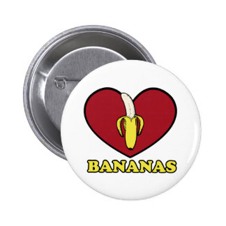 love banana 6 cm round badge