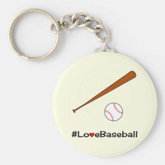 Love baseball hashtag sports key ring