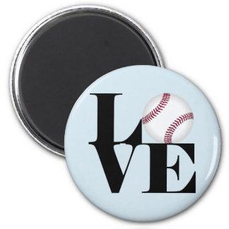 Love Baseball Magnet