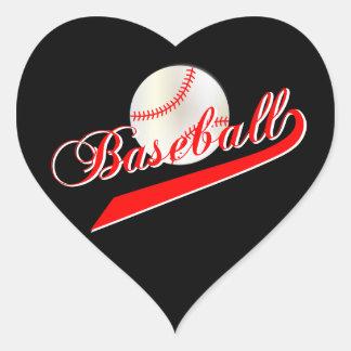 Love Baseball | Red Heart Sticker