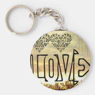 Love basic round keychain