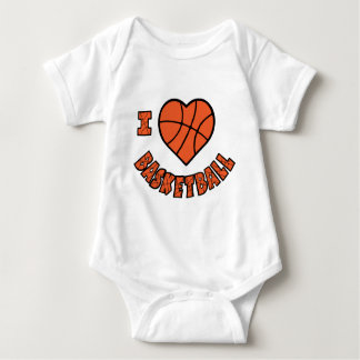 Love Basketball, orange Baby Bodysuit