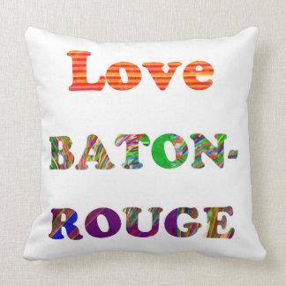 Love BATON ROUGE  Louisiana Throw Cushion