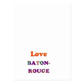 Love BATON ROUGE  Louisiana Postcard