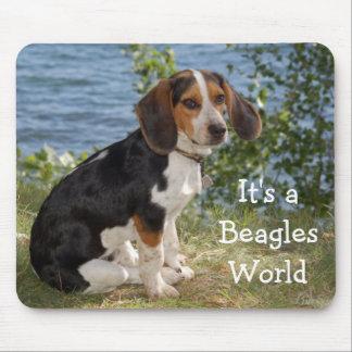 Love Beagle Puppy Dog Mouse Pad