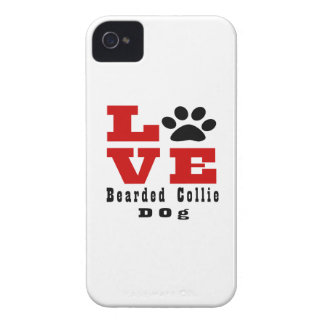 Love Bearded Collie Dog Designes iPhone 4 Cover