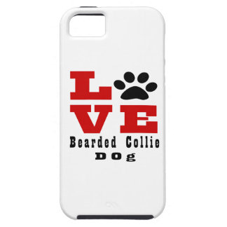Love Bearded Collie Dog Designes iPhone 5 Covers