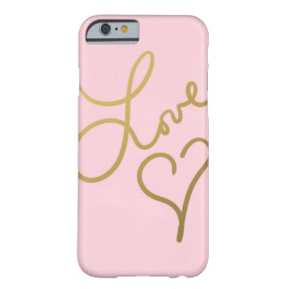 Love Beat (pink) Barely There iPhone 6 Case