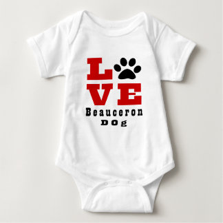 Love Beauceron  Dog Designes Baby Bodysuit