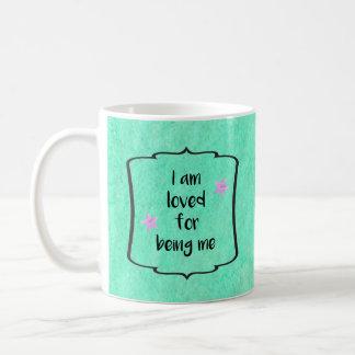 Love Beauty Acceptance Affirmation Motivation Basic White Mug