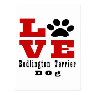 Love Bedlington Terrier Dog Designes Postcard