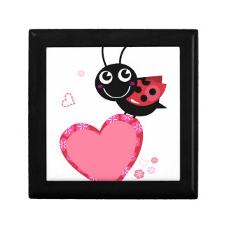 LOVE BEE with pink Heart Small Square Gift Box