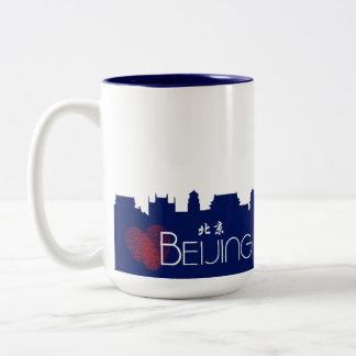 Love Beijing Peking Skyline Two-Tone Coffee Mug