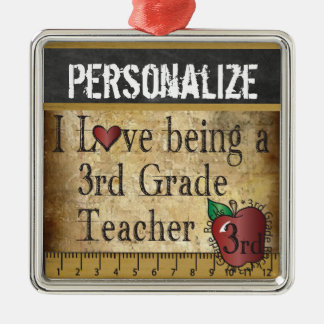 Love being a 3rd Grade Teacher | Vintage Metal Ornament