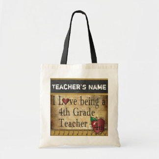Love Being a 4th Grade Teacher | DIY Name Budget Tote Bag