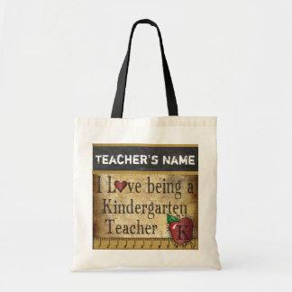 Love Being a Kindergarten Teacher's Bag Budget Tote Bag