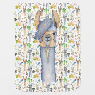 Love Being A Mama Llama Baby Blanket