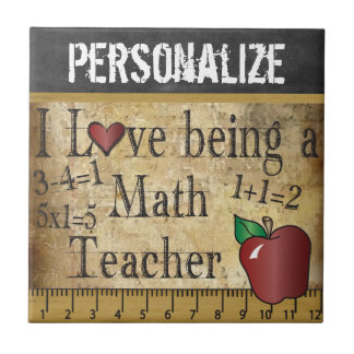 Love being a Math Teacher - Vintage Tile
